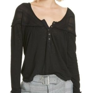 We The Free XS Down Under Henley New Black Shirt